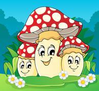 Stock Illustration of mushroom theme image - illustration.