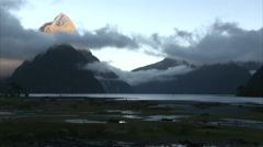 Amazing silence of Milford Sound - stock footage