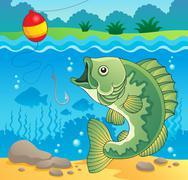 Freshwater fish theme image - illustration. Stock Illustration