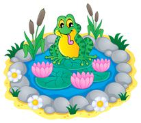 pond theme image - illustration. - stock illustration