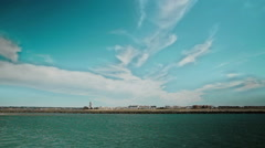 Seascape. Amazing clouds. Pan view. Stock Footage