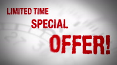 Limited time special offer loop - stock footage