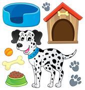 image with dog theme - illustration. - stock illustration