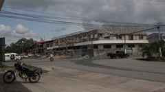 Puerto Barrios crossroad, Guatemala Stock Footage