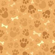 dog theme seamless background - illustration. - stock illustration