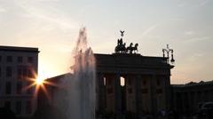 Brandenburger gate at sunset Stock Footage