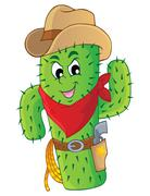 cactus theme image - illustration. - stock illustration