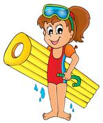 Stock Illustration of summer water activity theme - illustration.