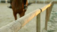 School Riding Horses Galloping Running Training Slider Shot Stock Footage
