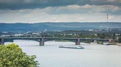 Mainz - Rhein (timelapse) Stock Footage