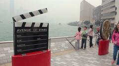 Avenue of Stars of Kowloon, Hong Kong 2013-Dan Stock Footage