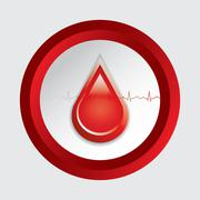 blood donation vector. - stock illustration