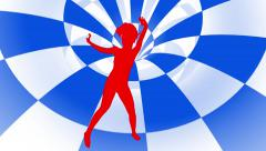 Red dancer  silhouette   motion background Stock Footage