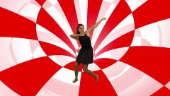 Modern dancer Checker Tunnel  motion background Stock Footage