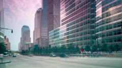 New york downtown street traffic 4k time lapse from usa Stock Footage