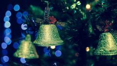 Christmas lights and christmas tree dolly shot - stock footage