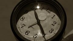 Time Lapse of Clock Hands Turning as the Day Passes - stock footage