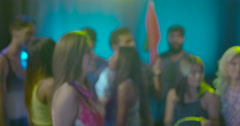 Bouncer in nightclub Stock Footage