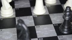 Chess On Blackboard Stock Footage