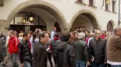 Hofbrauhaus Munich Tilt Up Stock Footage