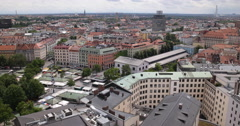 UltraHD 4K Munich Skyline Aerial View Establishing Shot Old Town Viktualienmarkt Stock Footage