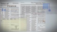 Finance animation background Stock Footage