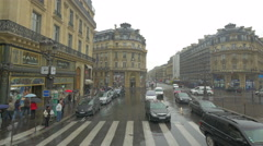 Street scene in Paris, France, 4k, UHD Stock Footage