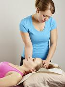osteopathy treatment - stock photo