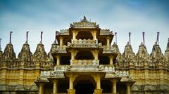 Ranakpur jain temple front entrance Stock Photos