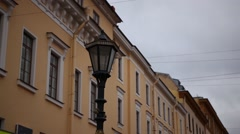HD view of the street lamp - stock footage
