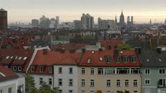 Beautiful Munich Skyline Stock Footage