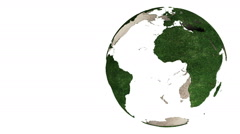 Abstract green Earth globe rotation HD video 1080 (loop able) - stock footage