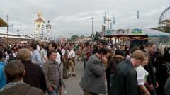 Oktoberfest Munich Crowd - stock footage