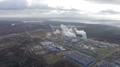 HD Aerial View Of heat power station, Full HD Stock Footage