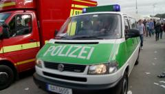 German Police Polizei - stock footage