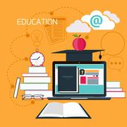 Stock Illustration of online education, professional education