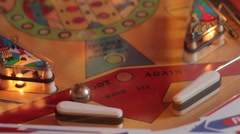 Pinball game (vintage) Stock Footage