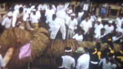 Vintage Old Film 1956 Okinawa Japan- Itoman Tug of War Festival Stock Footage
