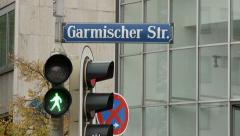 German Walk Signal & Sign Stock Footage