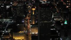 Stock Video Footage of Aerial New Orleans Night