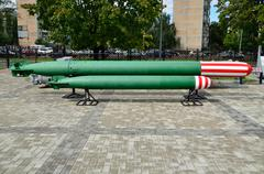 anti-submarine homing torpedoes. kaliningrad, russia - stock photo