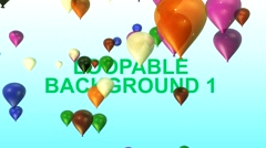 Flying Baloons 4 Pack - stock after effects