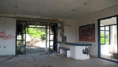 The interior of an abandoned hotel Arkistovideo