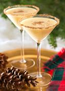 Eggnog martini Stock Photos