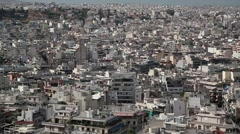 White buildings in centre of Athens, Greece Stock Footage