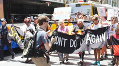 Aboriginal G20 protest in Brisbane 4K 3 Stock Footage