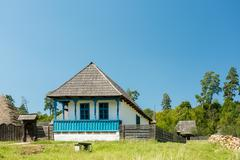 Traditional Romanian Village House Stock Photos