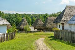 Stock Photo of Romanian Village In The Carpathian Mountains