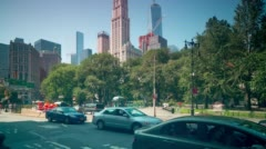 Canal street traffic road 4k time lapse from new york city Arkistovideo