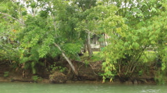 Philippine waterfront home Stock Footage